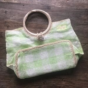 Life Is Good Bags - SALE 3/$15 Life is Good Green White Woven Tote